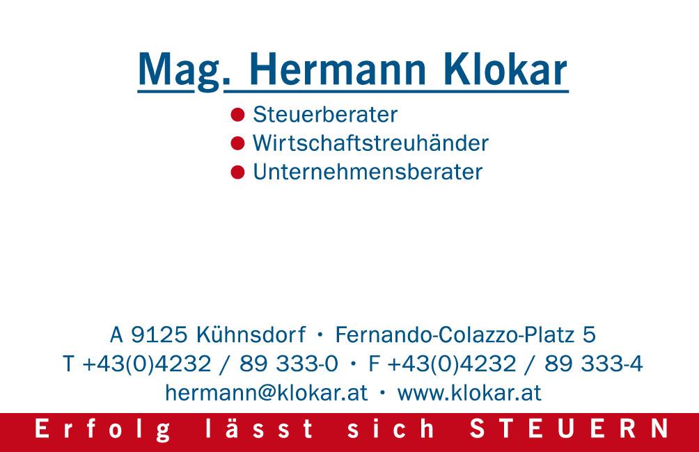 Visitenkarte Hermann Klokar Rossmann Gmbh